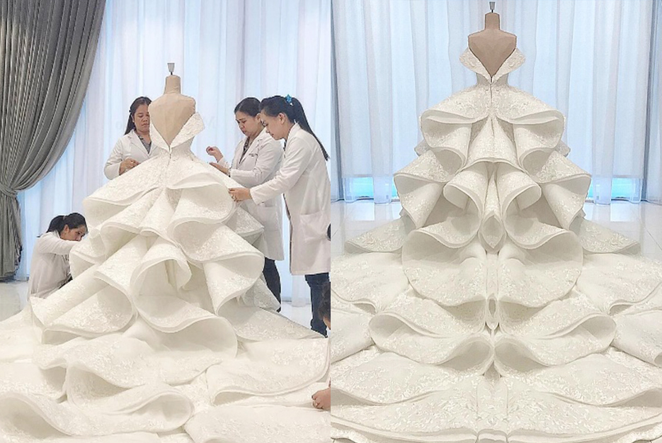 qatar princess ties the knot with a michael cinco gown