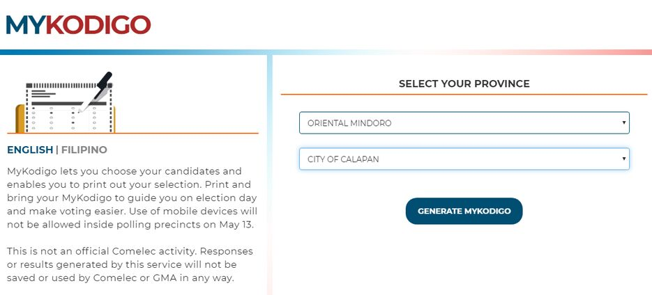 gma s election 2019 website allows users to create printable sample ballots they can bring to their respective voting precincts on the election day