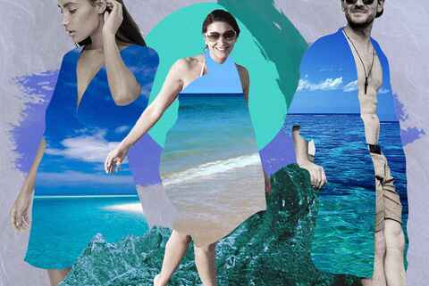 Beach cover-up banner